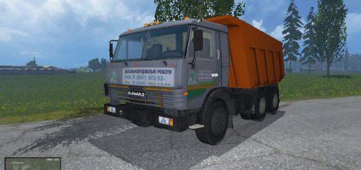 Русская техника для Мод самосвал КамАЗ-65115 для Farming Simulator 2015