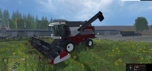 Русская техника для Мод комбайн ВЕКТОР-420 для Farming Simulator 2015