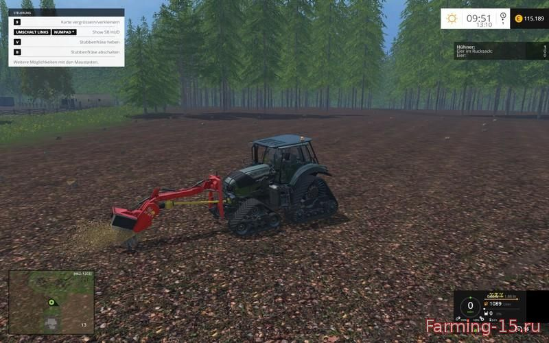 Лесозагатовка для Мод Лесо-погрузчик «Bergziege 16.540 FL» v1.0 для Farming Simulator 2015