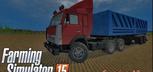 Русская техника для Мод грузовик КамАЗ 54115 и прицеп ОдАЗ 9370 для Farming Simulator 2015