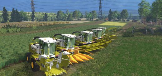 Комбайны для Мод-пак комбан, 5 жаток, трейлер для Farming Simulator 2015