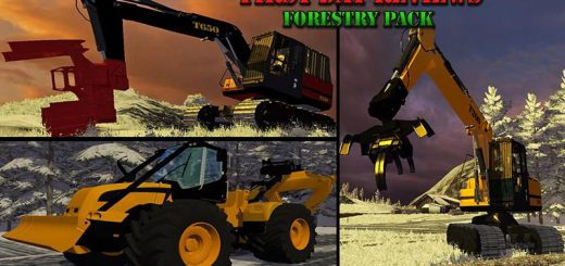 Лесозагатовка для Мод Техника для заготовки леса «Forestry Pack» v1.0 для Farming Simulator 2015