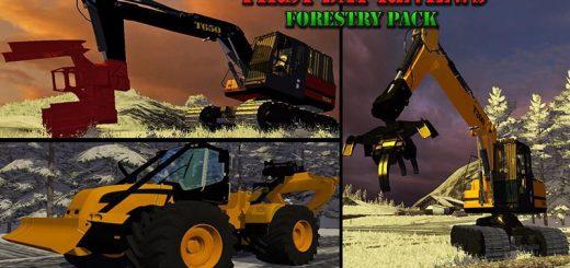 Лесозагатовка для Мод Техника для заготовки леса «Forestry Pack» v1.0 для Farming Simulator 2015