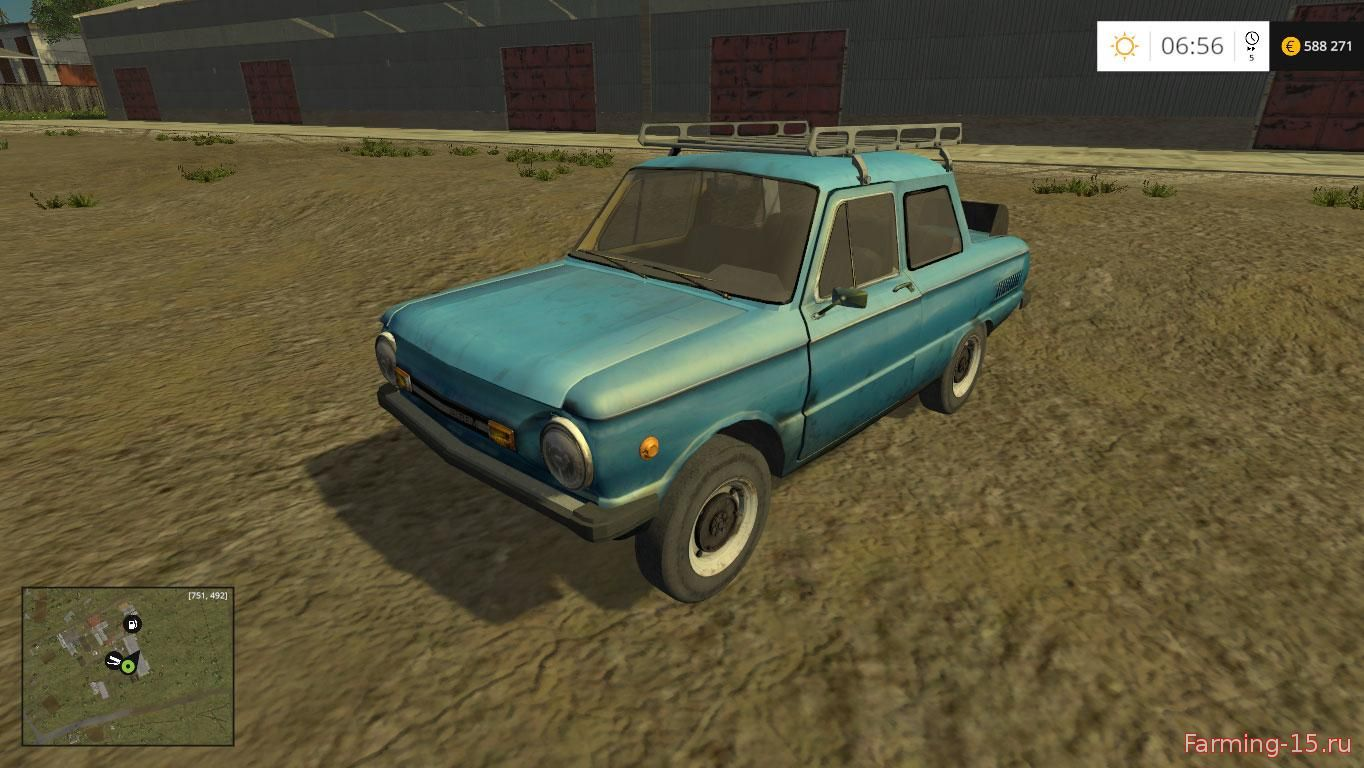 Русская техника для Мод машина ЗАЗ 968м для Farming Simulator 2015