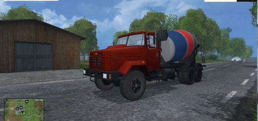 Русская техника для Мод грузовик КрАЗ 6233R6 Миксер v1.0 для Farming Simulator 2015