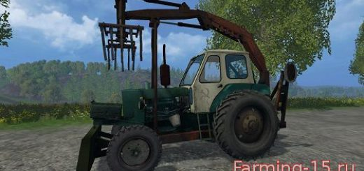 Тракторы для Мод трактор ЮМЗ-6Л грейфер для Farming Simulator 2015