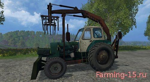 Тракторы для Мод трактор ЮМЗ-6Л грейфер для Farming Simulator 2015