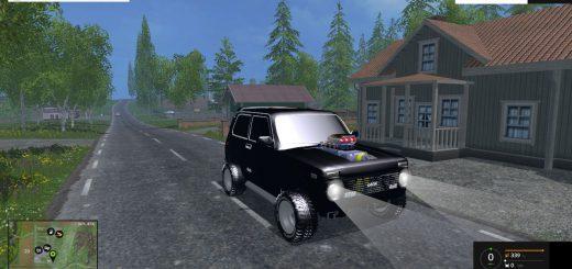 Русская техника для Мод тюнингованный ВАЗ 2121 НИВА для Farming Simulator 2015