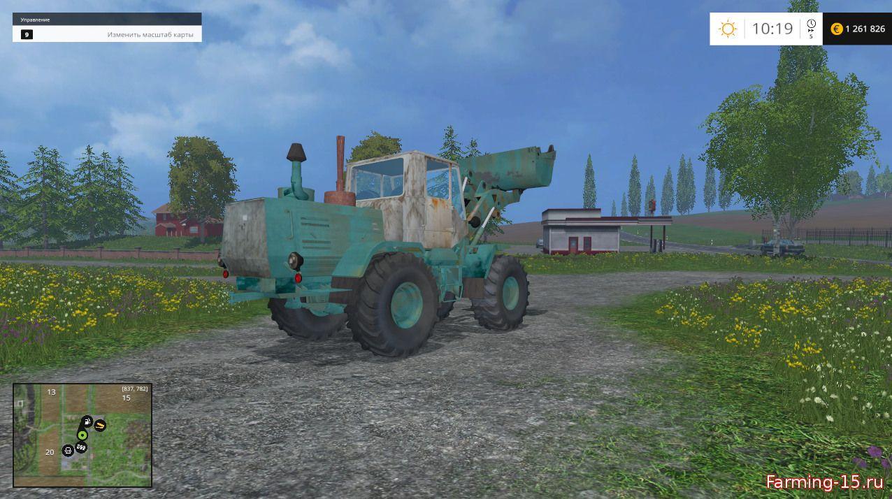 Русская техника для Мод  фронтальный погрузчик «ХТЗ Т-156» v1.1 для Farming Simulator 2015