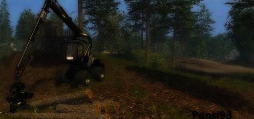 Лесозагатовка для Мод Харвестер «Ponsse 4WD EcoLog» v2.0 для Farming Simulator 2015