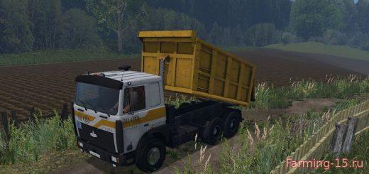 Русская техника для Мод грузовик МАЗ 5516 v3.0 для Farming Simulator 2015