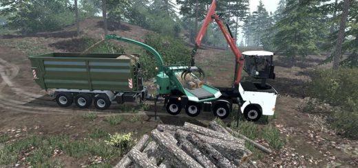 Лесозагатовка для Мод Грузовик «Kari» + кузов-лесоизмельчитель v1.1 для Farming Simulator 2015