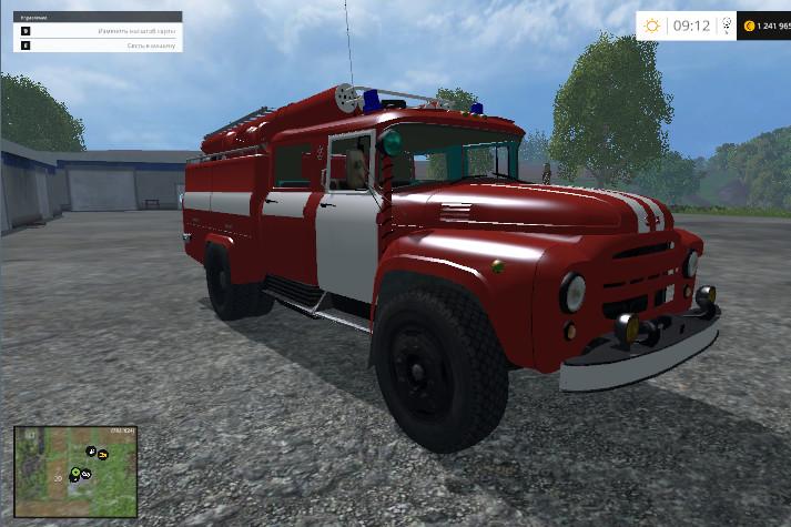 Русская техника для Мод пожарная машина ЗИЛ-130 для Farming Simulator 2015