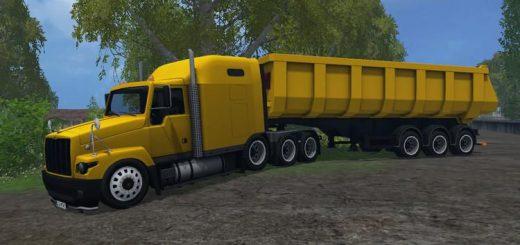 Русская техника для Мо тягач и полуприцеп «ГАЗ Титан» для Farming Simulator 2015