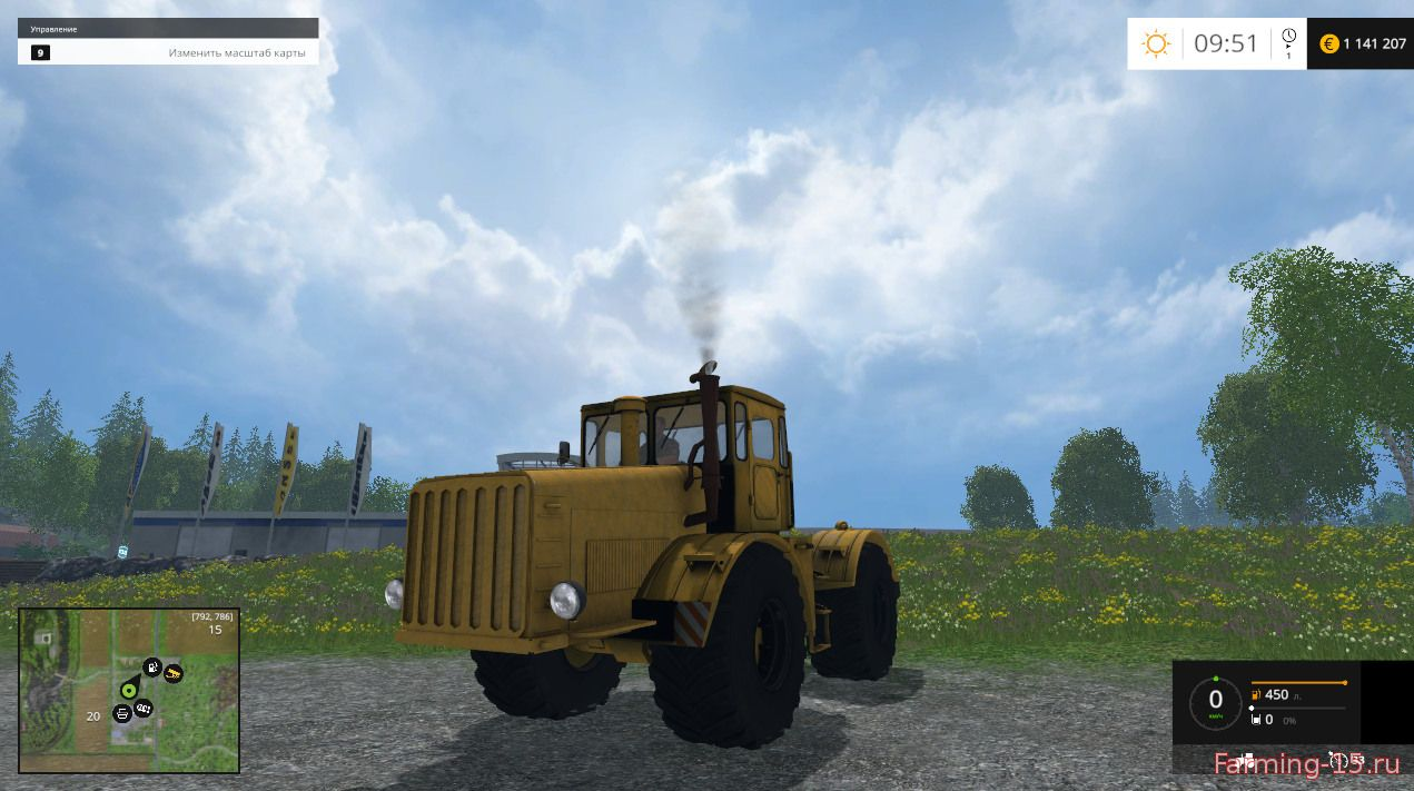 Русская техника для Мод трактор Кировец К-700 для Farming Simulator 2015
