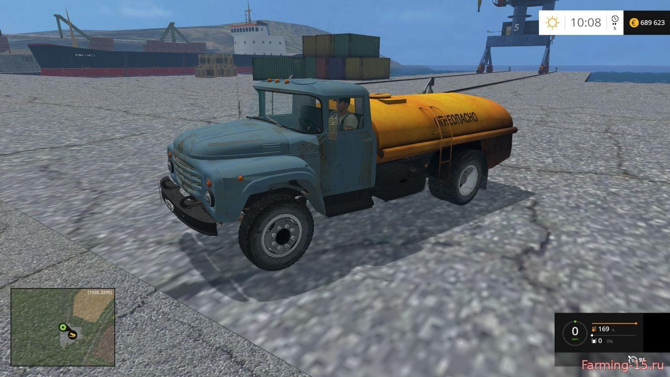 Русская техника для Мод заправщик ЗИЛ-130 для Farming Simulator 2015