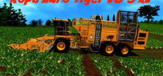 Комбайны для Мод комбайн Ropa Euro Tiger XL V8 POTATO для Farming Simulator 2015