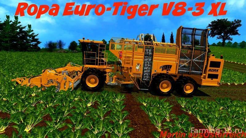 Комбайны для Мод комбайн Ropa Euro Tiger XL V8 POTATO для Farming Simulator 2015