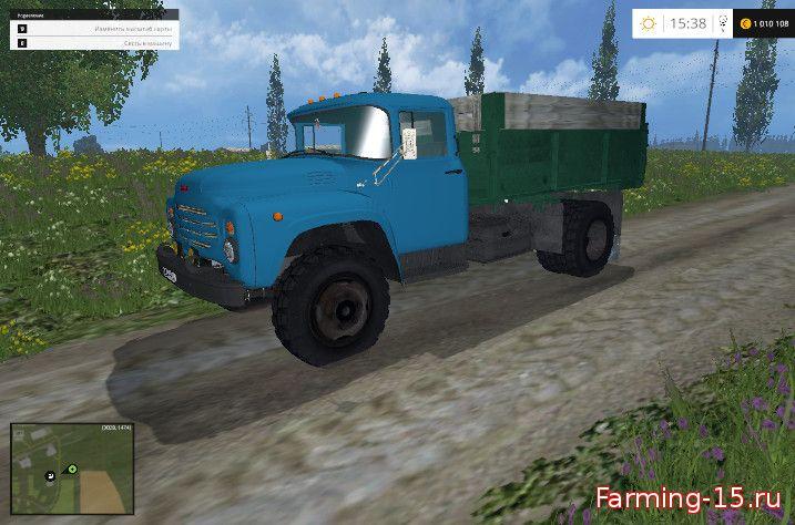 Русская техника для Мод ЗИЛ-130 с синей кабиной для Farming Simulator 2015