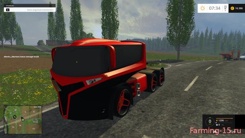 Грузовики для Мод грузовик Iveco Concept Truck v1.0 для Farming Simulator 2015