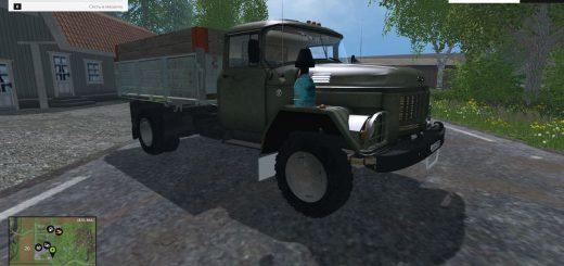 Русская техника для Мод грузовик ЗиЛ 130 АМУР Дизель для Farming Simulator 2015