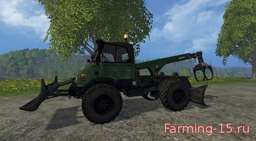 Погрузчики для Мод погрузчик Unimog Forst для Farming Simulator 2015