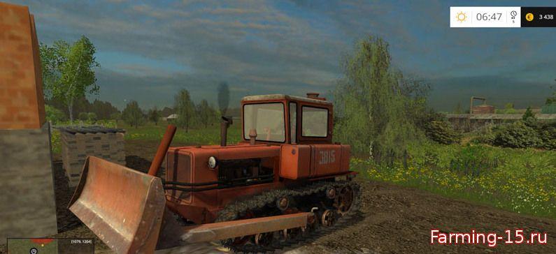 Русская техника для Мод бульдозер ДТ-75 для Farming Simulator 2015
