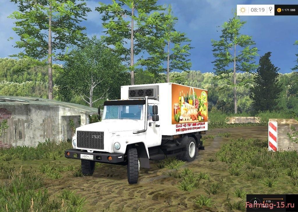 Русская техника для Мод продуктовый грузовик ГАЗ-САЗ-35071 для Farming Simulator 2015