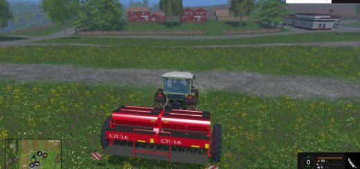 С/Х инвентарь для Мод новая сеялка СЗТ 3.6 и две сцепки для Farming Simulator 2015