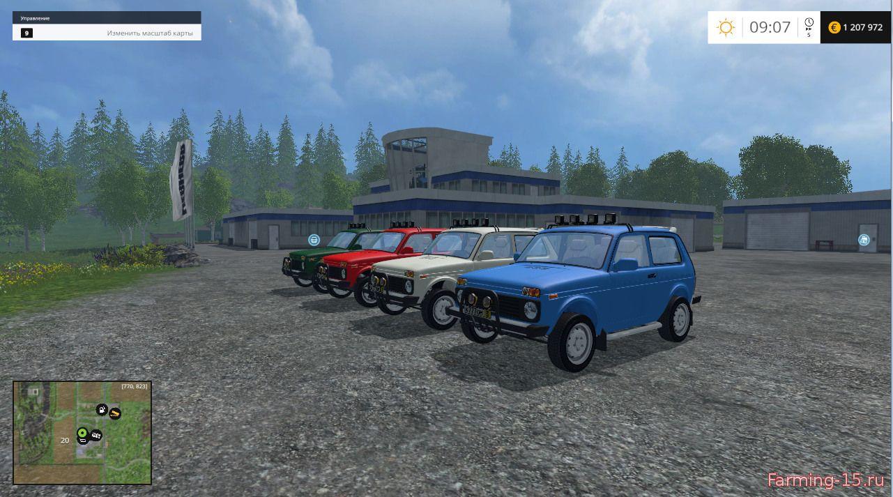 Русская техника для Мод ВАЗ-2121 «Нива» для Farming Simulator 2015