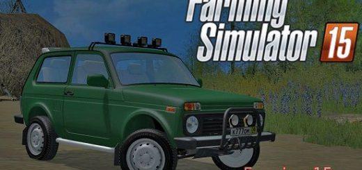 Русская техника для Мод машина ВАЗ 2121 НИВА для Farming Simulator 2015