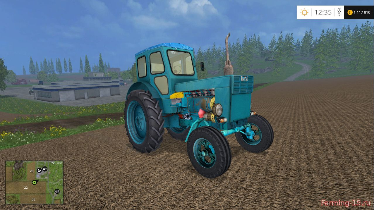 Русская техника для Мод трактор ЛТЗ Т40 для Farming Simulator 2015