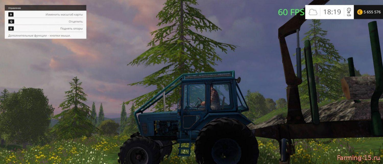 Русская техника для Мод трактор МТЗ-82 с прицепом MISKINE для Farming Simulator 2015