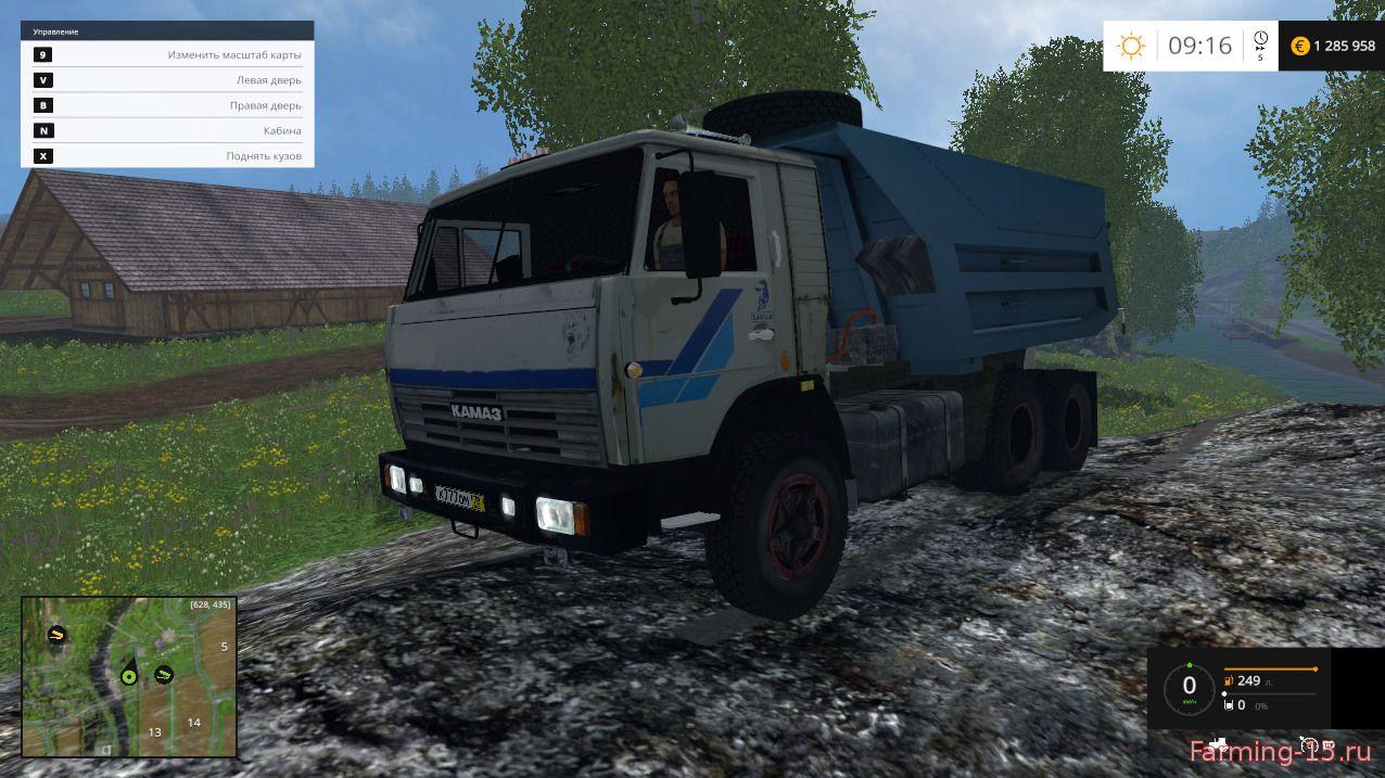 Русская техника для Мод грузовик КамАЗ 55111 для Farming Simulator 2015
