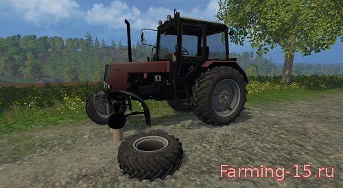 Русская техника для Мод трактор МТЗ 1025 v 2.0 (красный) для Farming Simulator 2015