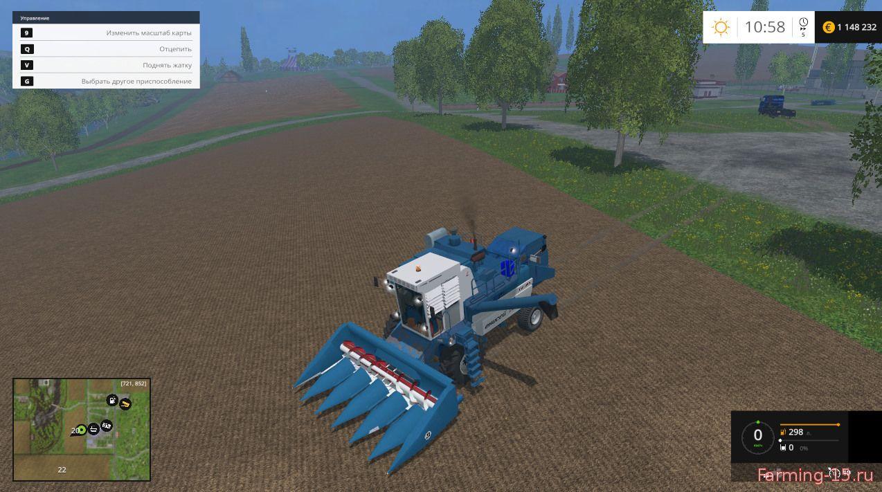 Русская техника для Мод комбайн Енисей 1200 НМ для Farming Simulator 2015