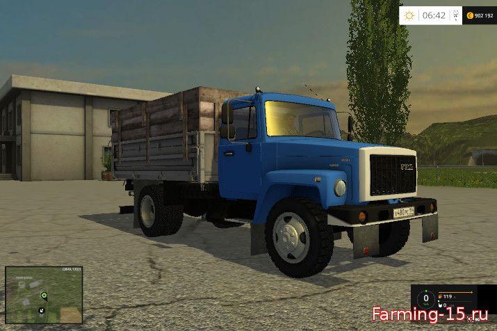 Русская техника для Мод грузовик ГАЗ САЗ-35071 для Farming Simulator 2015