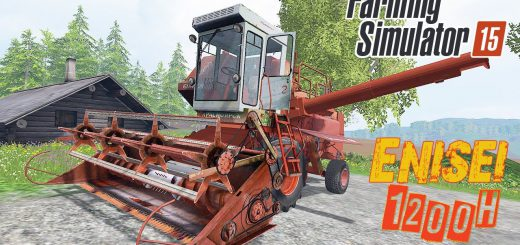 Русская техника для Мод комбайн Енисей 1200Н V1.0 для Farming Simulator 2015
