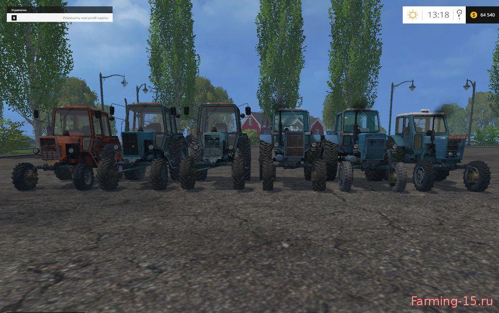 Русская техника для Мод-пак тракторов «Беларус» для Farming Simulator 2015