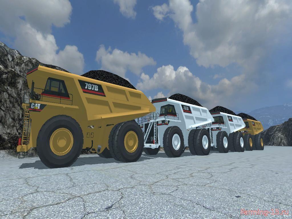 Грузовики для Мод грузовик CATERPILLAR 797B Dumper для Farming Simulator 2015
