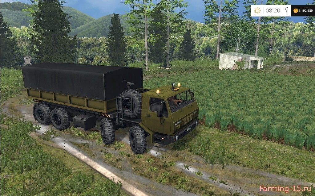 Русская техника для Мод грузовик КрАЗ 6316 - ММЗ 584 для Farming Simulator 2015