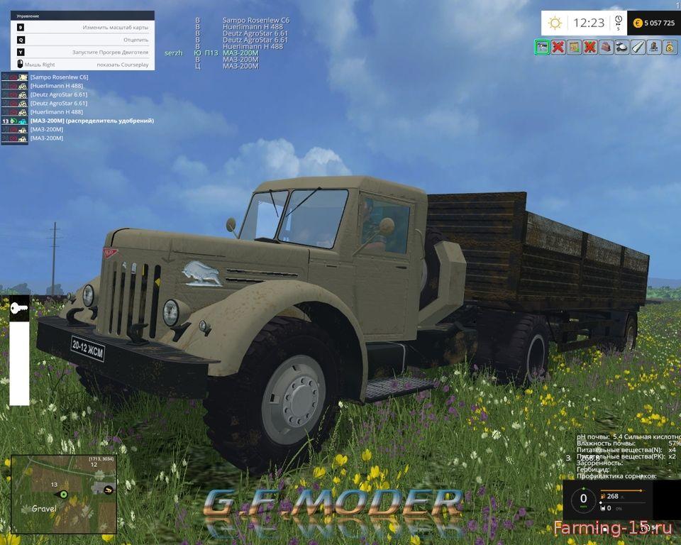 Русская техника для Мод-пак МАЗ для игры Farming Simulator 2015