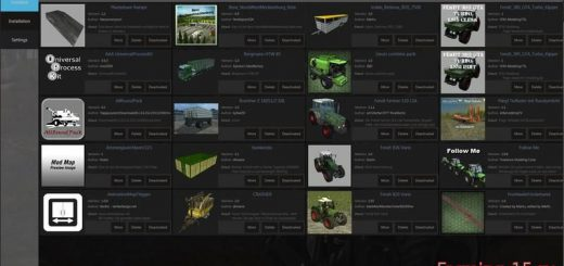 Другие моды для Программа Mod Manager для Farming Simulator 2015