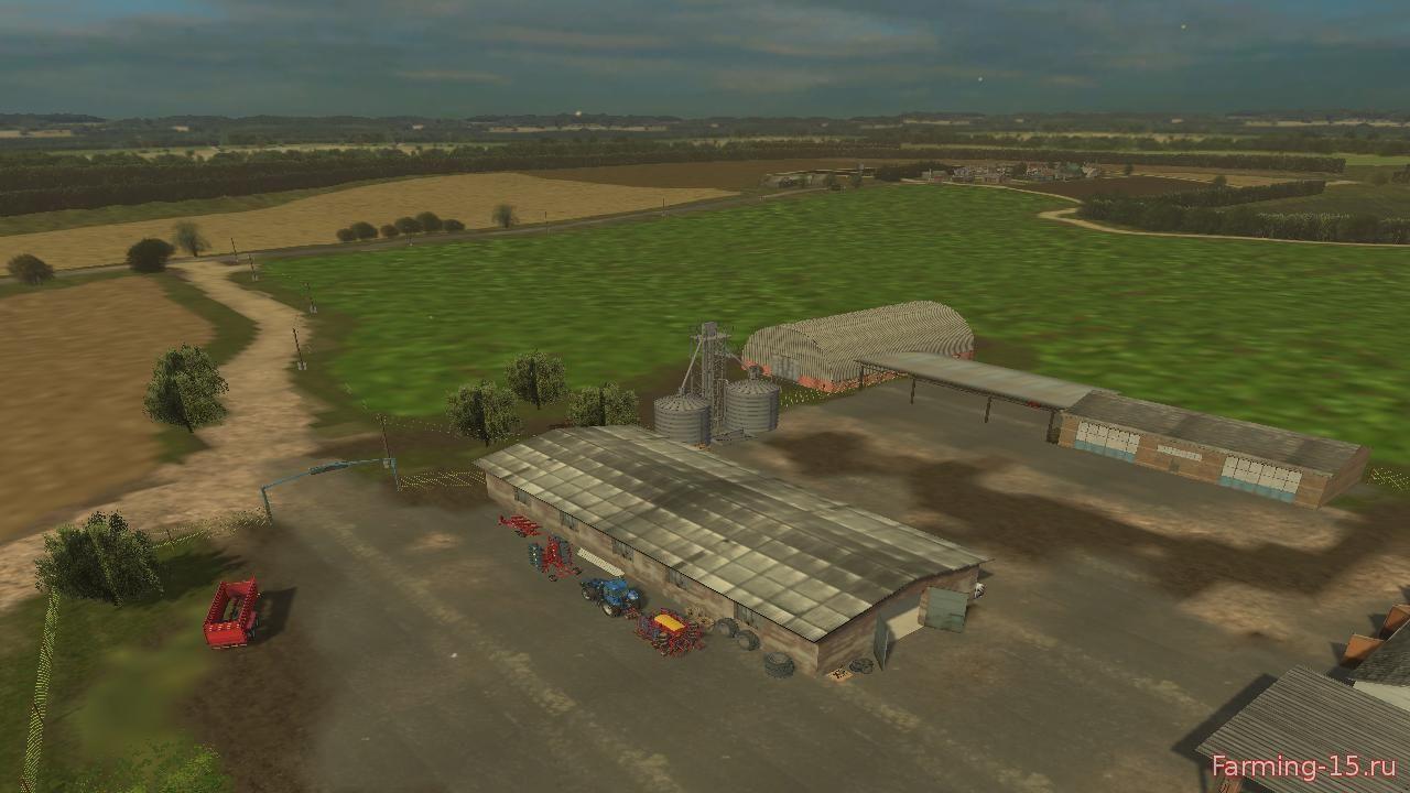 Русские карты для Русская карта «Летние поля» для Farming Simulator 2015
