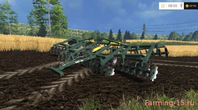 С/Х инвентарь для Мод культиватор БДТ-7 v1.1 для Farming Simulator 2015
