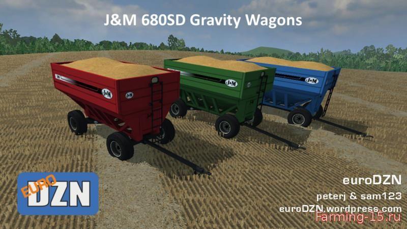Прицепы для Мод прицеп J&M 680 SD для Farming Simulator 2015