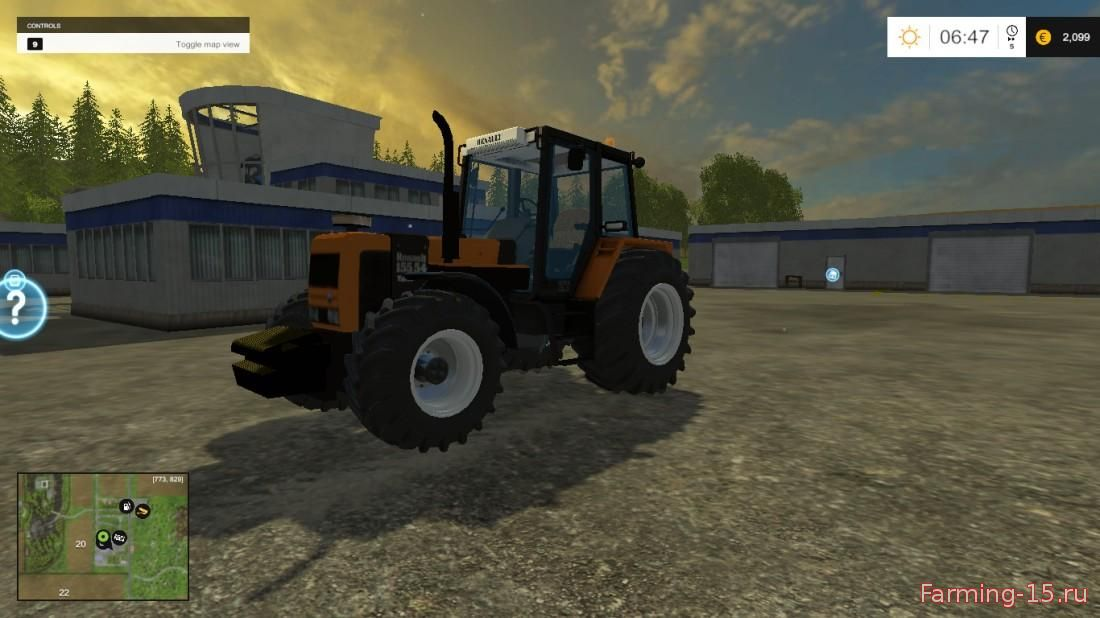 Тракторы для Мод трактор Renault 155.54 v1.1 для Farming Simulator 2015