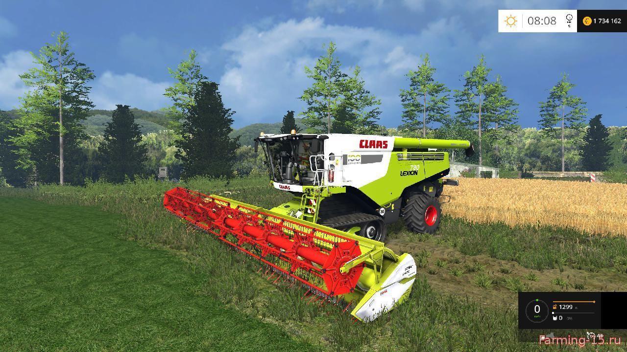 Комбайны для Мод-пак комбайн Claas Lexion 780 IC для Farming Simulator 2015