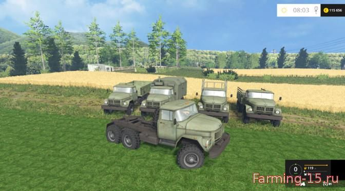 Русская техника для Мод-пак грузовиков ЗиЛ 131 для Farming Simulator 2015