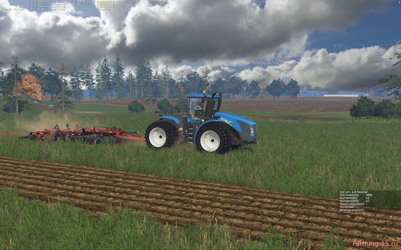 С/Х инвентарь для Мод складывающийся плуг для Farming Simulator 2015